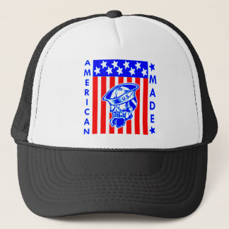 American Made Skull Flag Sailor Trucker Hat
