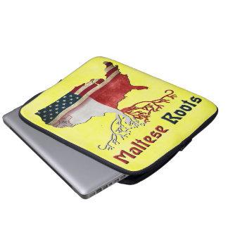 American Maltese Roots Laptop Cover