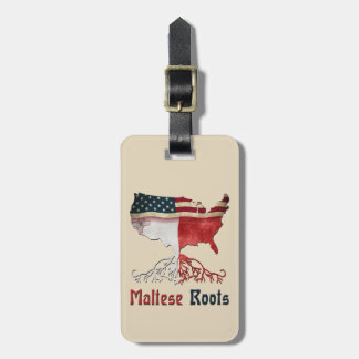 American Maltese Roots Luggage Tag Template