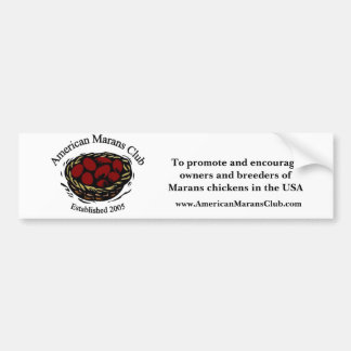 American Marans Club Logo, To promote and encou... Bumper Stickers