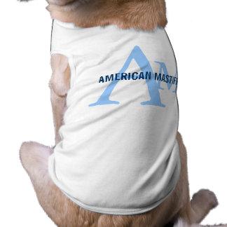 American Mastiff Breed Monogram Pet T-shirt