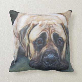 American Mastiff Fine Art Painting Throw Pillow