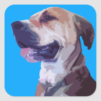American Mastiff Pitbull Digital Portrait Sticker