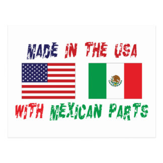 American Mexican American Postcard