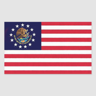 American Mexican Flag Sticker