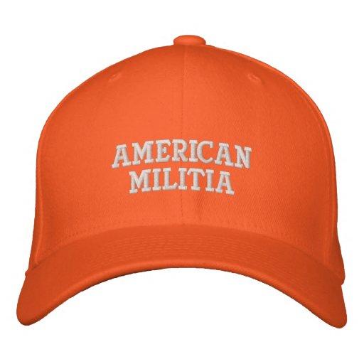 AMERICAN MILITIA EMBROIDERED HAT