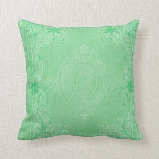American MoJo Pillows Mint Green Antique Scroll