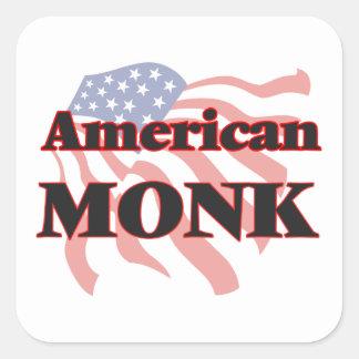 American Monk Square Sticker