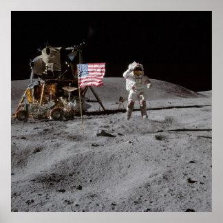 American Moon Walk Poster