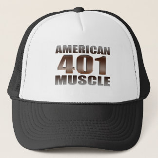 american muscle 401 nailhead trucker hat
