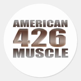 american muscle 426 Hemi Classic Round Sticker