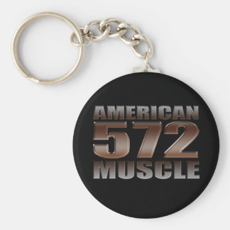 american muscle 572 Big Block black motor Basic Round Button Keychain