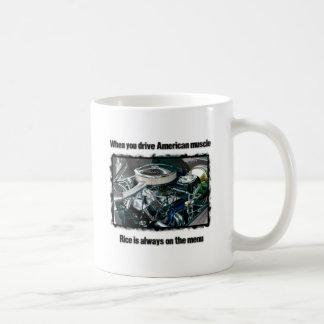 American muscle basic white mug