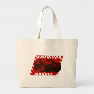 American muscle Camaro Large Tote Bag