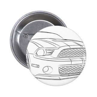 American muscle car button