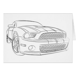 American muscle car card