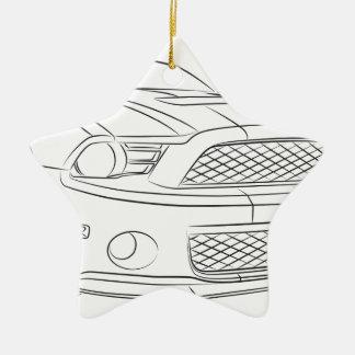 American muscle car ceramic star ornament
