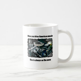 American muscle classic white coffee mug