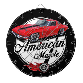 American Muscle Corvette Dartboard