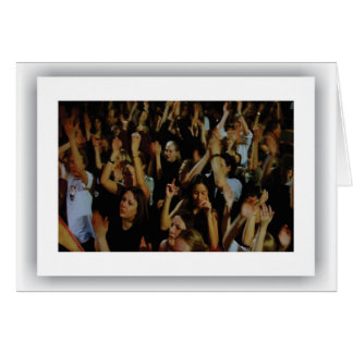 American Music Crowds, Notecard