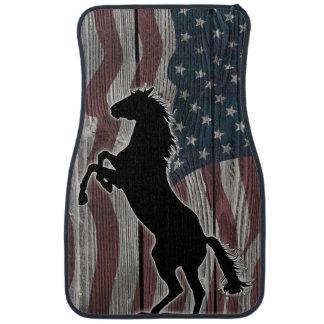 American Mustang running wild Car Mat