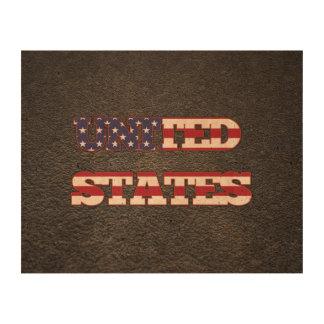 American name and flag cork paper prints