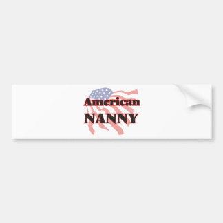 American Nanny Bumper Sticker