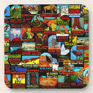 American National Parks Vintage Decal Bomb Coaster