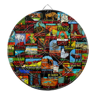 American National Parks Vintage Decal Bomb Dartboard