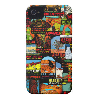 American National Parks Vintage Decal Bomb iPhone 4 Cases