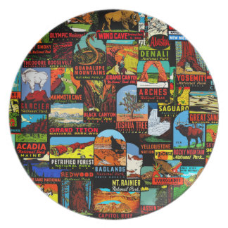 American National Parks Vintage Decal Bomb Plate