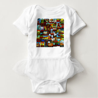 American National Parks Vintage Travel Decal Bomb Baby Bodysuit