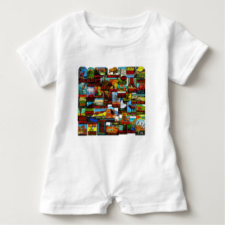 American National Parks Vintage Travel Decal Bomb Baby Romper