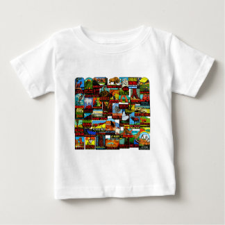 American National Parks Vintage Travel Decal Bomb Baby T-Shirt