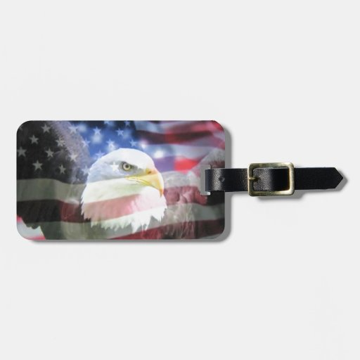 American National Patriotism. The Flag and Eagle. Luggage Tags