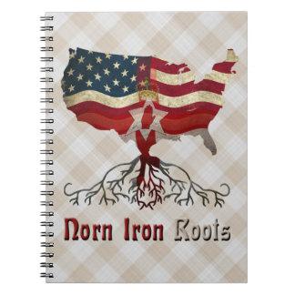 American Northern Irish Ancestry Notepad Notebooks