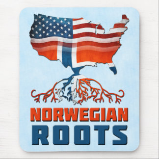 American Norwegian Roots Mousemat Mouse Pad