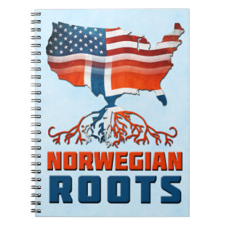 American Norwegian Roots Notepad Notebook