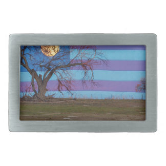 American November Supermoon Belt Buckles