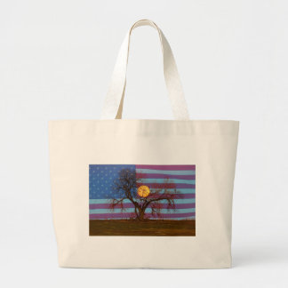 American November Supermoon Large Tote Bag