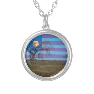American November Supermoon Silver Plated Necklace