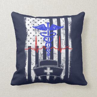 American Nurse Throw Pillow