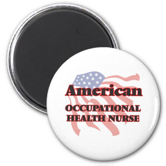American Occupational Health Nurse 2 Inch Round Magnet