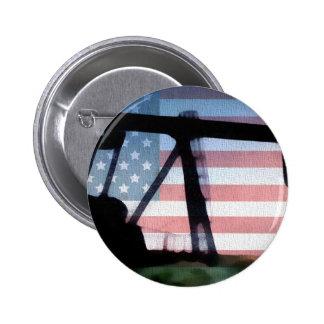 American Oil 2 Inch Round Button