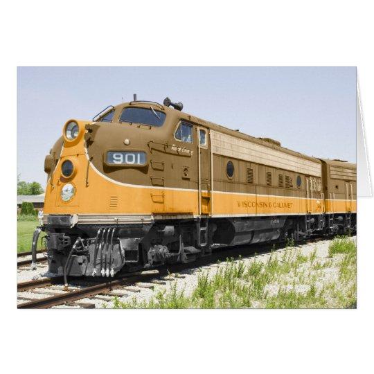 American Old F-Unit Diesel Train Card