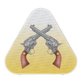 American Old West Revolvers Crossed Vintage Blueooth Speaker