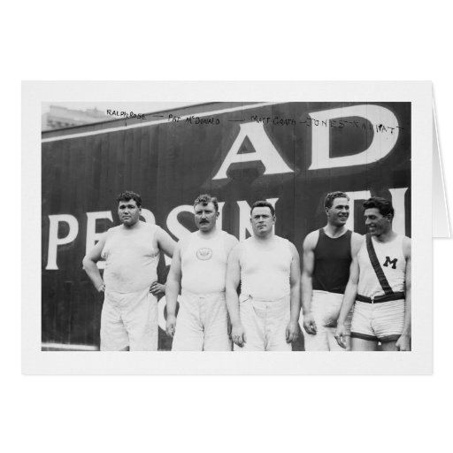 American Olympians in Stockholm, 1912 Greeting Card