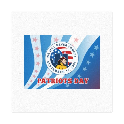 American Patriot Day Remember 911 Greeting Card Stretched Canvas Prints