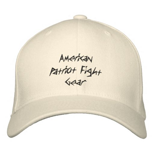 American Patriot Fight Gear Embroidered Baseball Cap