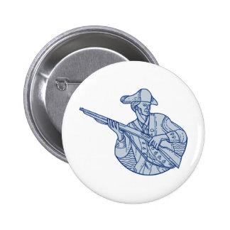 American Patriot Minuteman Rifle Mono Line 2 Inch Round Button